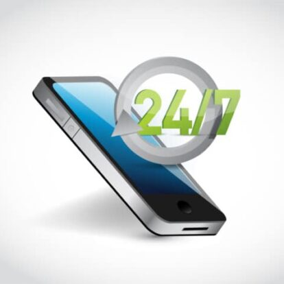 Mobile phone with 24 7